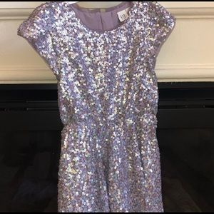 Kids Purple Sequin Dress